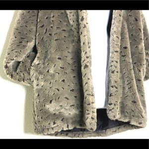Vintage Jackets & Coats - Vintage Oversized Plush Teddy Bear Hoodie Coat